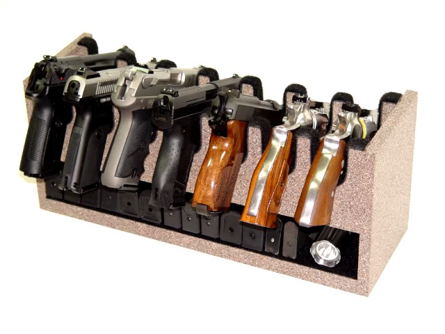 7 Gun Camelrock Custom Gun Racks With Padded Storage