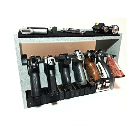 7 Gun Greystone Custom Gun Racks With Dual Storage